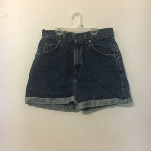 Levi's Shorts - Levi's high-waisted denim shorts